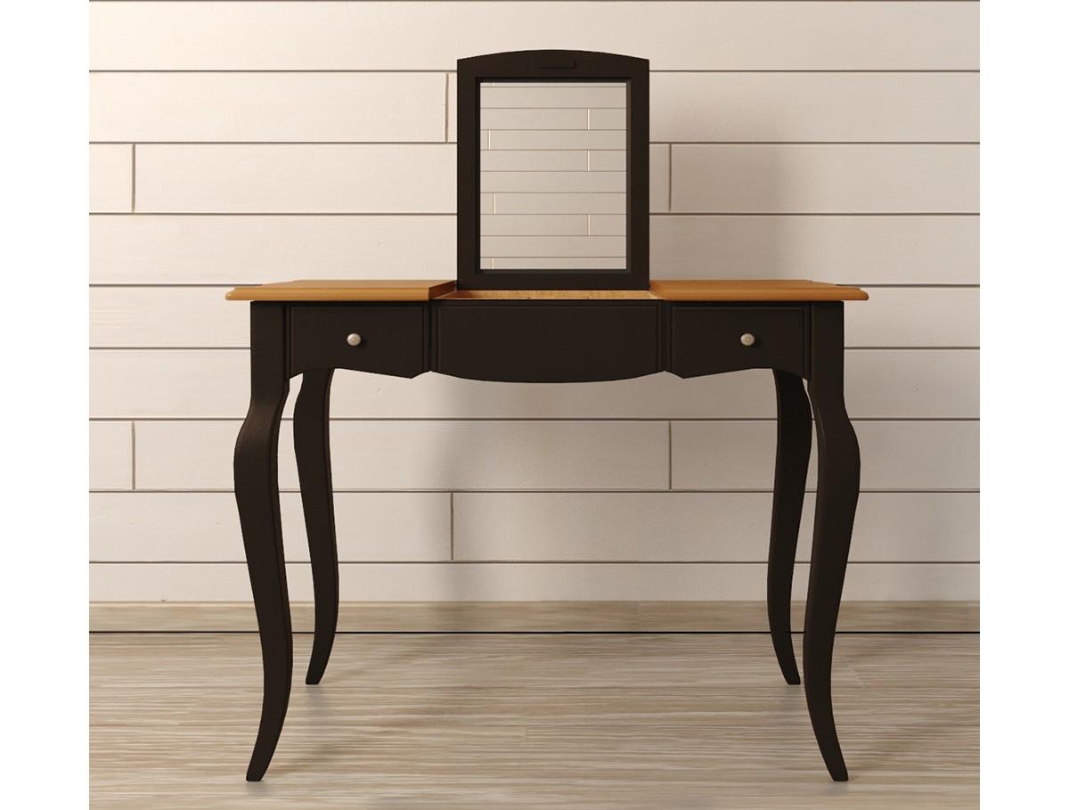 Туалетный стол Leontina BlackТуалетные столики<br>Материал: массив березы, массив ясеня.<br><br>Material: Береза<br>Width см: 100<br>Depth см: 49<br>Height см: 77