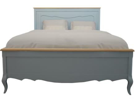 Двуспальные кровать leontina (etg-home) голубой 160.0x120.0x200.0 см.