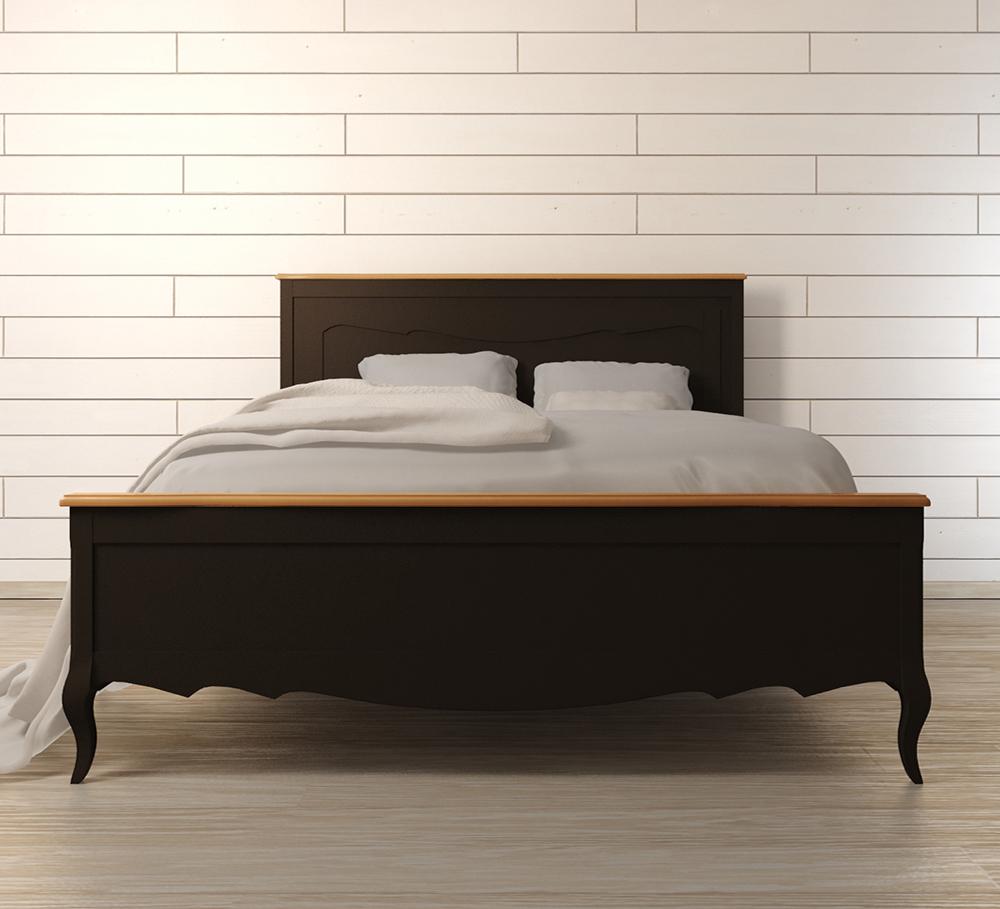 Двуспальная кровать Leontina BlackДеревянные кровати<br>Материал: Массив березы,Массив ясеня.&amp;lt;div&amp;gt;Размер матраса: 160х200 см.&amp;lt;/div&amp;gt;<br><br>Material: Дерево<br>Width см: 160<br>Depth см: 200<br>Height см: 120