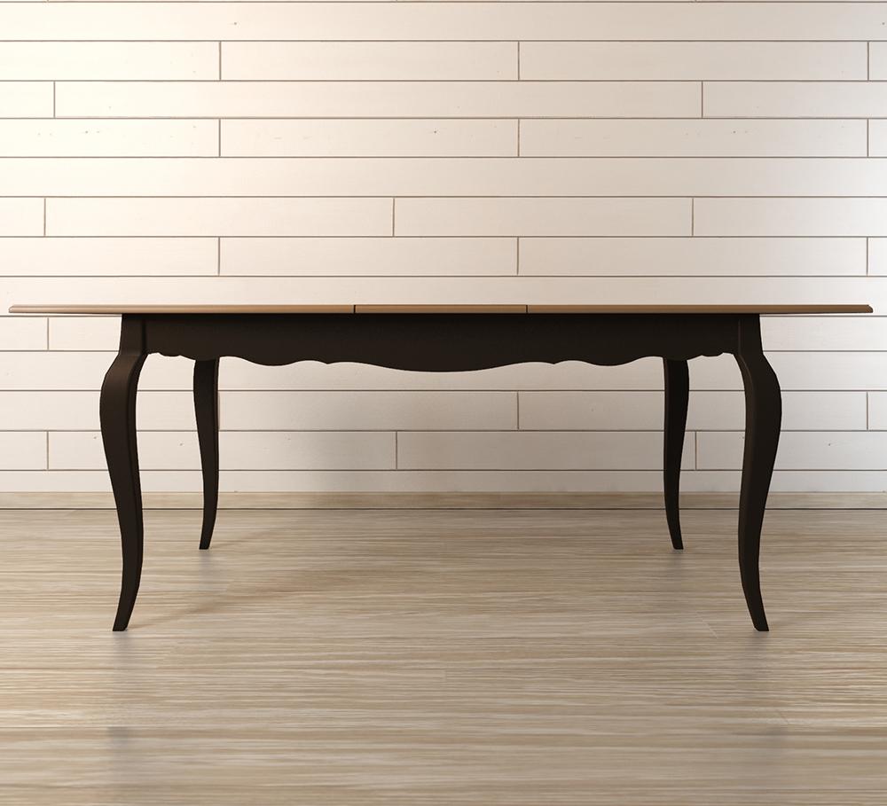 Раскладывающийся обеденный стол Leontina BlackОбеденные столы<br>Материал: Массив березы,Массив ясеня.<br><br>Material: Дерево<br>Width см: 160<br>Depth см: 90<br>Height см: 77