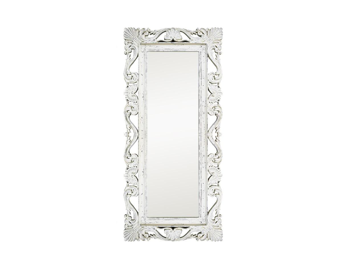 Напольное зеркало интерьерноеНапольные зеркала<br>&amp;lt;div&amp;gt;&amp;lt;div&amp;gt;Напольное зеркало в стиле шебби шик — необычайно модный и милый предмет интерьера. Рама из полиуретана окрашена в белый цвет и искусственно состарена, покрыта характерными трещинками и потертостями. Резной винтажный багет только выглядит нежным. ППУ — очень прочный и долговечный материал. Кроме того, он экологичен, не имеет запаха и не содержит вредных примесей.&amp;lt;/div&amp;gt;&amp;lt;/div&amp;gt;&amp;lt;div&amp;gt;&amp;lt;br&amp;gt;&amp;lt;/div&amp;gt;&amp;lt;div&amp;gt;&amp;lt;div&amp;gt;Цвет:&amp;amp;nbsp;Белый Шебби-шик&amp;lt;/div&amp;gt;&amp;lt;/div&amp;gt;<br><br>Material: Полиуретан<br>Length см: None<br>Width см: 85<br>Depth см: 4<br>Height см: 186