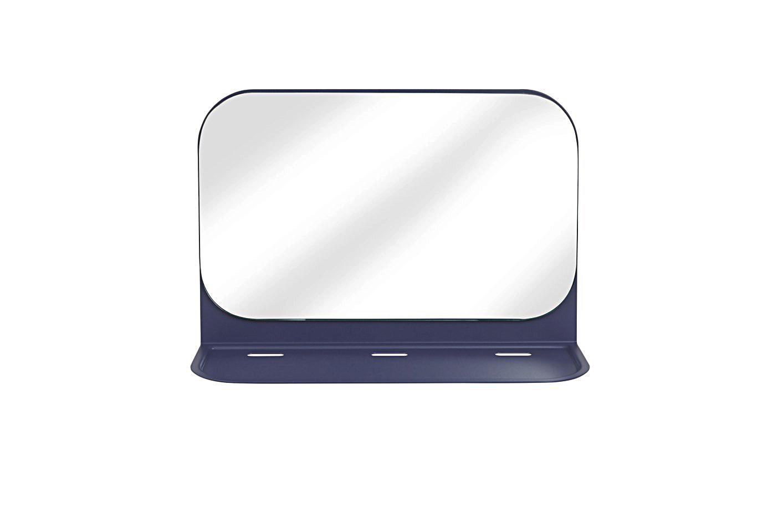 Зеркало с полкой poseНастенные зеркала<br>Настенная полочка для аксессуаров с зеркалом, которая серьезно поможет в организации пространства в ванной или спальне. Дополнительное зеркало никогда не бывает лишним, а на полочке поместятся все нужные мелочи. Сюда можно положить украшения или часы, которые снимаются перед душем, а можно сложить самую необходимую косметику, чтобы утром быстрее собраться на работу. Даже телефон будет удобно зарядить, пока вы принимаете душ, благодаря специальным отверстиям для проводов.<br>Лимитированная коллекция &amp;quot;For students by students&amp;quot;<br><br>Material: Металл<br>Width см: 34<br>Depth см: 12<br>Height см: 22