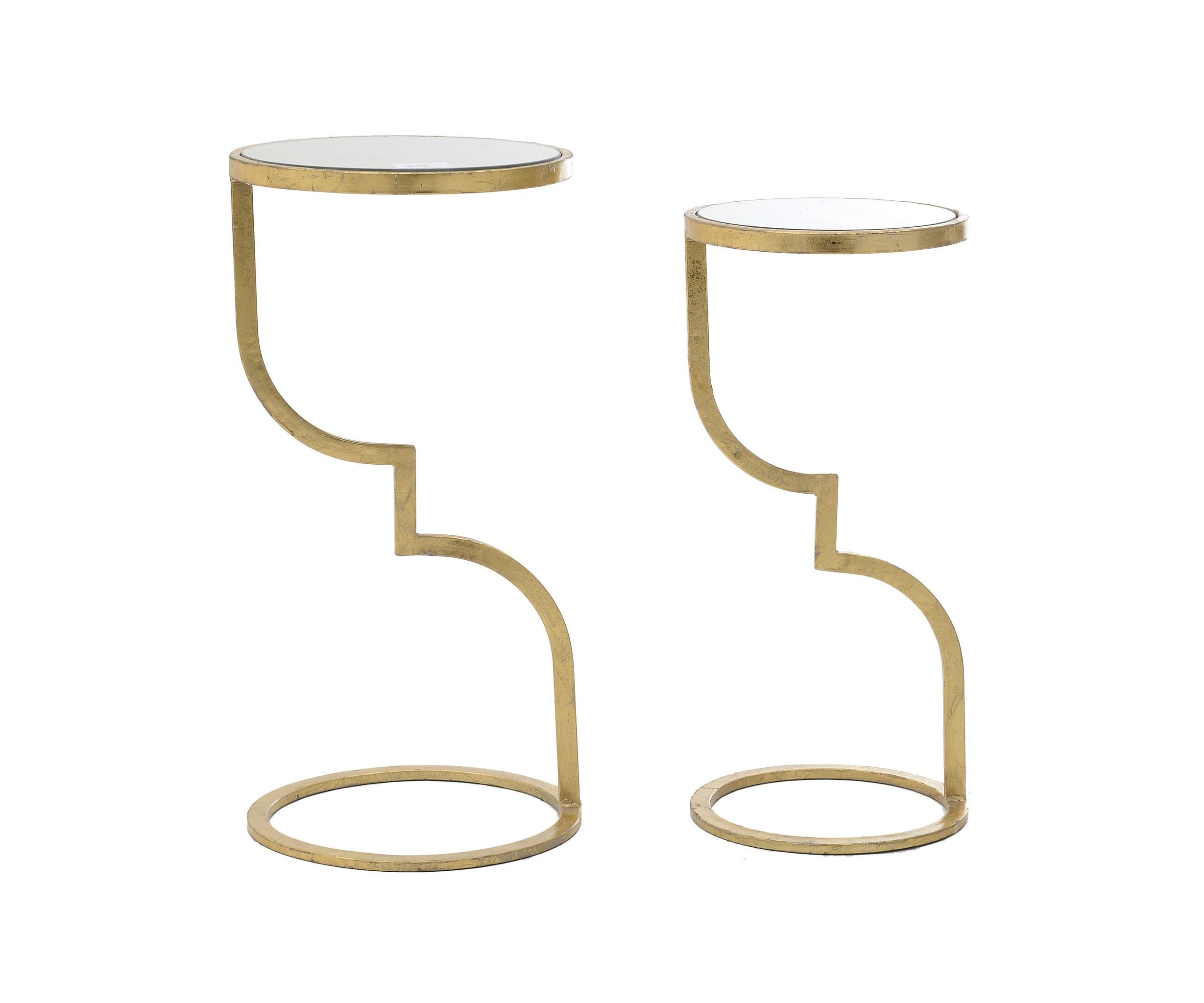 Стол Eryne (2 шт)Приставные столики<br>Стол, набор 2 шт - 32X32X65 / 27X27X59.5<br><br>Material: Металл<br>Высота см: 65