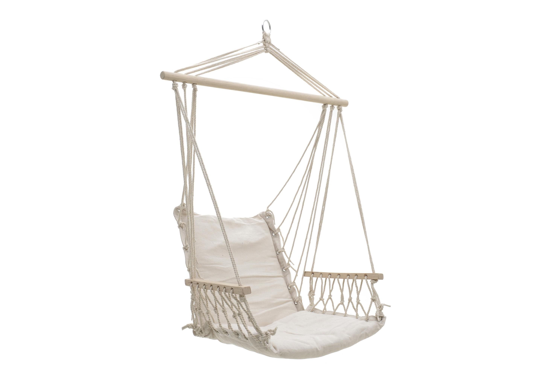 Кресло-гамак CrestianПодвесные кресла<br>Материал: хлопок, джут, дерево<br><br>Material: Текстиль<br>Width см: 96<br>Depth см: 50<br>Height см: 120