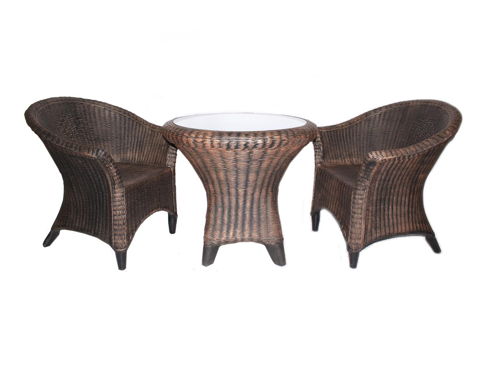 Комплект мебели ротанг (3 предмета) (green garden) коричневый 68 см.