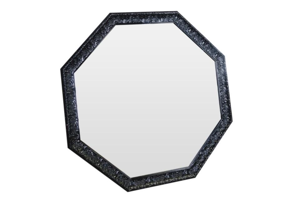 Зеркало Застывшая лаваНастенные зеркала<br>Чёрный цвет парадоксален: он связан с бесконечностью и тишиной, вызывает ощущение тайны и защищённости. Разместите зеркало в Вашем интерьере и Вы почувствуете, как сила и энигма наполнят Ваше пространство.<br><br>Material: Полиуретан<br>Ширина см: 96<br>Высота см: 96<br>Глубина см: 5