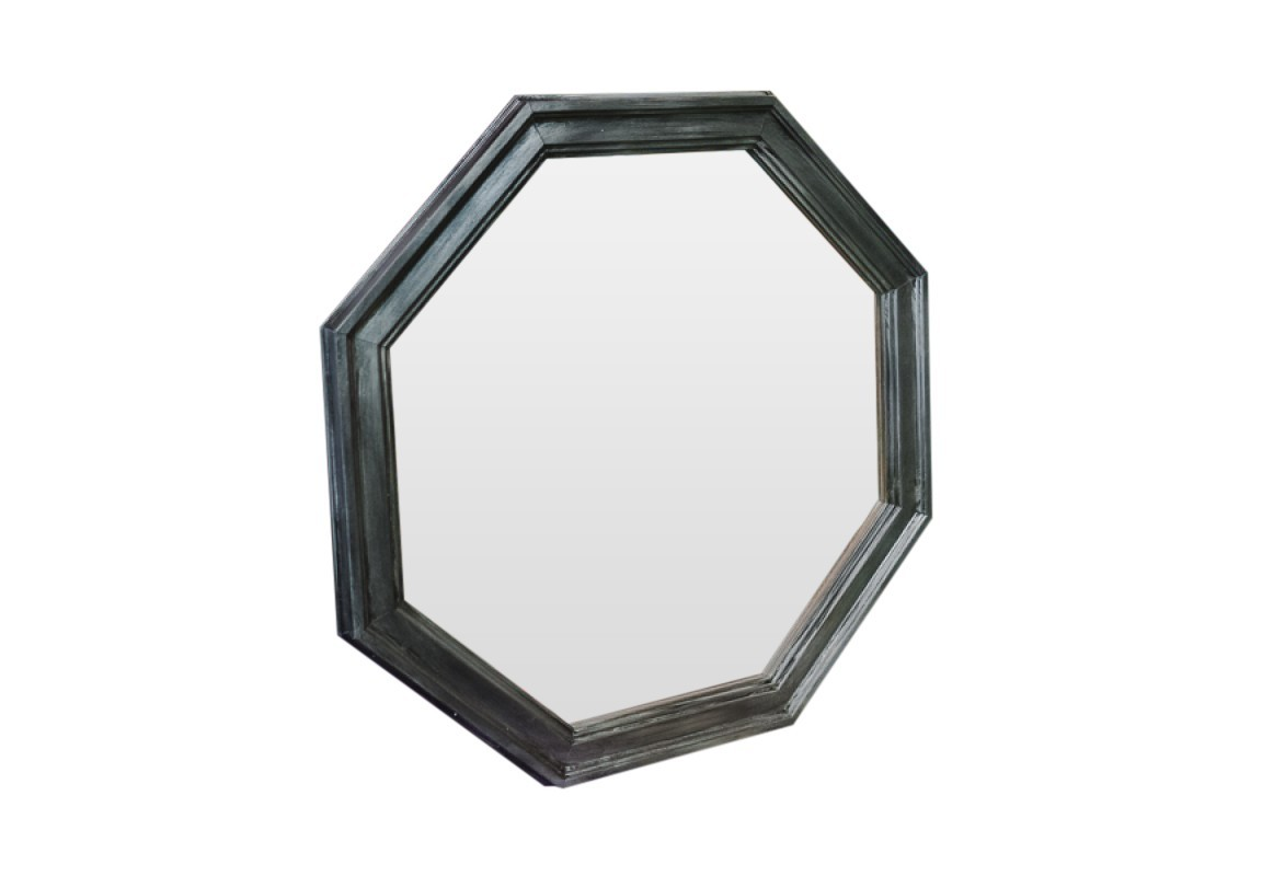 Зеркало МагнитНастенные зеркала<br>Восьмиугольник, он же октагон, означает восстановление, обновление, возрождение. Пусть это зеркало &amp;quot;магнитит&amp;quot; Вас, вновь и вновь отражая Ваше возрождение и восстанавливая Ваши силы! Черный оттенок и грамотно подобранное стилистическое решение позволят зеркалу стильно дополнить интерьер Вашего дома.<br><br>Material: Полиуретан<br>Width см: 60<br>Depth см: 4<br>Height см: 60
