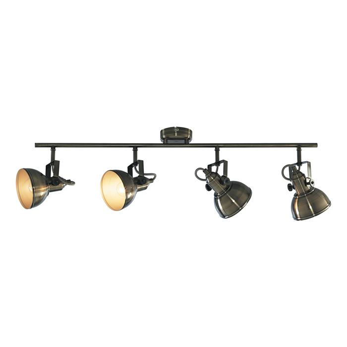 Потолочный светильник MARTINСпоты<br>Патрон:4 x E14<br>Мощность:4 x 40W<br>Напряжение:230V<br><br>Material: Металл<br>Ширина см: 80<br>Высота см: 22<br>Глубина см: 12