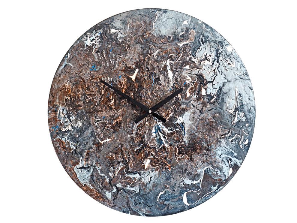 Настенные часы  «С высоты небожителей»Настенные часы<br>Удивительный шедевр в духе космоцентризма, превосходно исполненный акриловыми красками по дереву, открывает всю головокружительную красоту мира, в котором живет человек. С высоты богов мир выглядит совершенным. Часы способны стать идеальным подарком, ведь их энергия преобразит любой интерьер.&amp;lt;div&amp;gt;&amp;lt;br&amp;gt;&amp;lt;/div&amp;gt;&amp;lt;div&amp;gt;Материал: Дерево, акриловая краска, стразы серебряного цвета, серебряная поталь, патина, кварцевый часовой механизм&amp;lt;br&amp;gt;&amp;lt;/div&amp;gt;<br><br>Material: Дерево