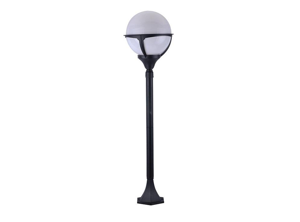 Светильник наземный MonacoУличные наземные светильники<br>Мощность: 100W<br>Количество патронов: 1<br>Патрон: E27<br>Напряжение: 220V<br>Материал: алюминий, пластик<br><br>Material: Алюминий<br>Высота см: 120