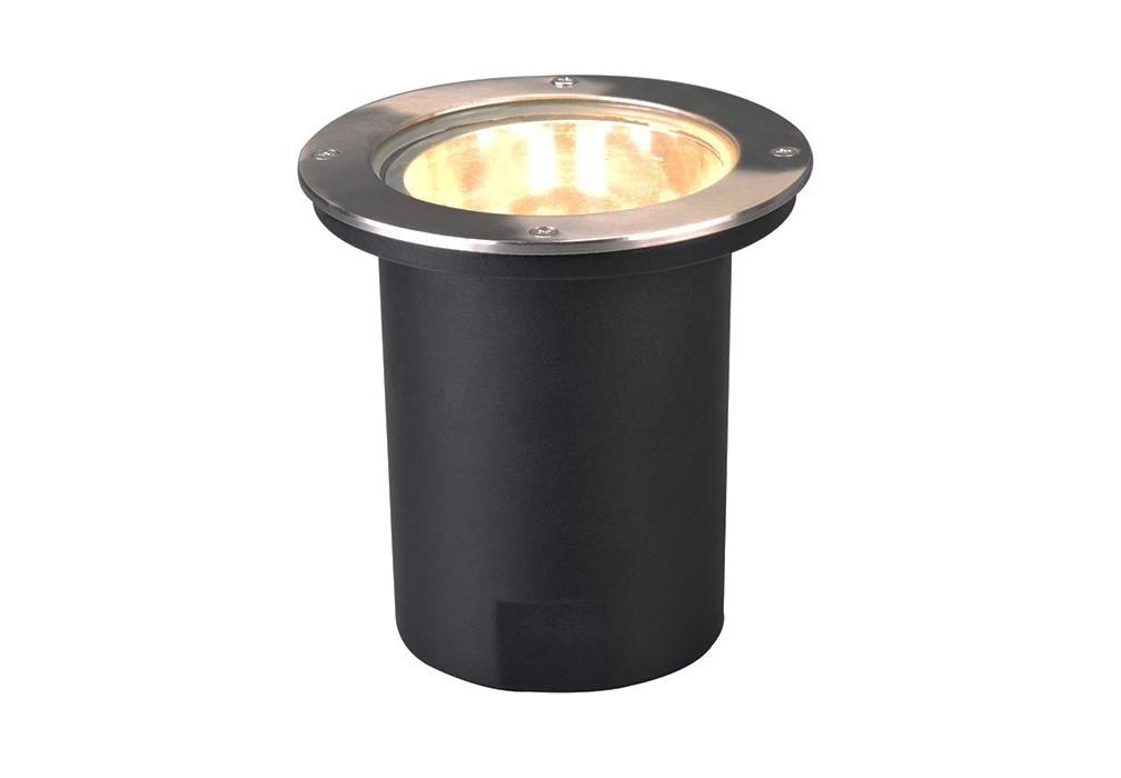 Светильник уличный PiazzaУличные встраиваемые светильники<br>Мощность100W<br>Патрон E27<br>Напряжение 220V<br>Цвет арматуры: Матовое серебро<br>Материал плафона:Стекло<br>Цвет плафона:Прозрачный<br><br>Material: Сталь<br>Высота см: 20