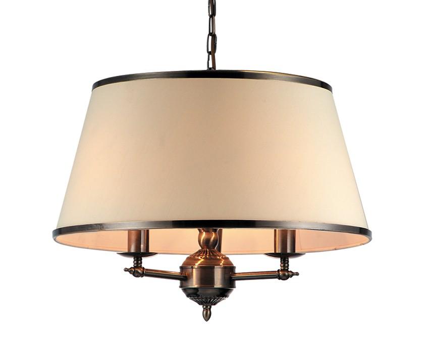 Подвесной светильник AliceЛюстры подвесные<br>Подвесной светильник Alice в стиле солнечного Прованса будет отлично смотреться на светлой веранде, в гостиной загородного дома или над столовой зоной. Каркас из темного металла контрастирует с абажуром теплого песочного оттенка. Отлично будет смотреться в интерьере в комплекте с бра Alice.<br><br>Мощность: 3 x E14<br><br>Material: Текстиль<br>Height см: 32<br>Diameter см: 45