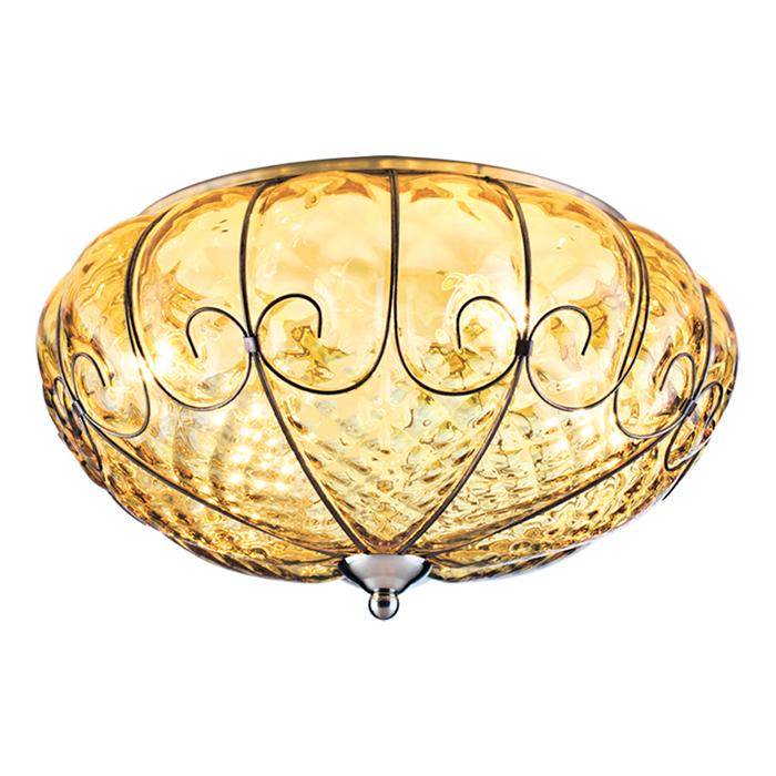 Потолочный светильник VENICEПотолочные светильники<br>Поистине роскошный светильник, напоминающий фантастический фрукт, что висит в райском саду.<br><br>Способ крепления: Планка<br>Тип цоколя: E14<br>Мощность: 60 W (Ватт)<br>Кол-во ламп: 4<br>Площадь освещения: 12 м2<br>Напряжение: 220 V (Вольт)<br>Цвет арматуры:<br>Античная бронза (A2204PL-4AB)<br>Матовое серебро (A2204PL-4SS)<br><br>Material: Стекло<br>Высота см: 16