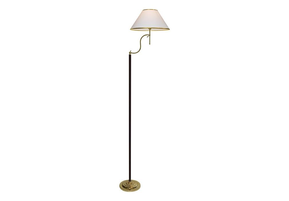 Торшер CatrinТоршеры<br>Торшер CATRIN от итальянских дизайнеров подойдет для классического английского интерьера гостиной, спальни, библиотеки. Классический белый абажур контрастирует с черной штангой, позолоченные элементы придают торшеру нарядный респектабельный вид.<br><br>Цоколь: E27<br>Мощность лампы W: 100 W<br>Количество ламп: 1<br><br>Material: Металл<br>Высота см: 160