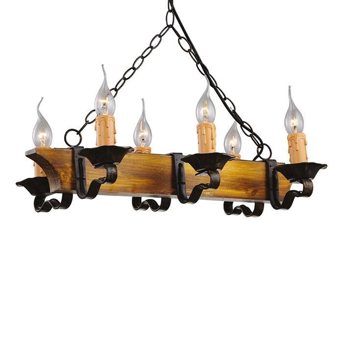 Люстра TavernaЛюстры подвесные<br>&amp;lt;div&amp;gt;Название люстры - Таверна - говорит само за себя. Такой светильник будет особенно актуален в тематических интерьерах, использующих элементы романского стиля и стиля кантри: деревянные слоты, лавки, балки - например, в кафе или ресторане.&amp;lt;/div&amp;gt;&amp;lt;div&amp;gt;&amp;lt;br&amp;gt;&amp;lt;/div&amp;gt;&amp;lt;div&amp;gt;Вид цоколя: E14&amp;lt;/div&amp;gt;&amp;lt;div&amp;gt;Мощность: 60W&amp;lt;/div&amp;gt;&amp;lt;div&amp;gt;Количество ламп: 6 (нет в комплекте)&amp;lt;/div&amp;gt;&amp;lt;div&amp;gt;&amp;lt;br&amp;gt;&amp;lt;/div&amp;gt;&amp;lt;div&amp;gt;Максимальная высота люстры: 104 см&amp;lt;/div&amp;gt;&amp;lt;div&amp;gt;Материал каркаса: дерево, металл&amp;lt;/div&amp;gt;<br><br>Material: Металл<br>Ширина см: 56<br>Высота см: 32<br>Глубина см: 32