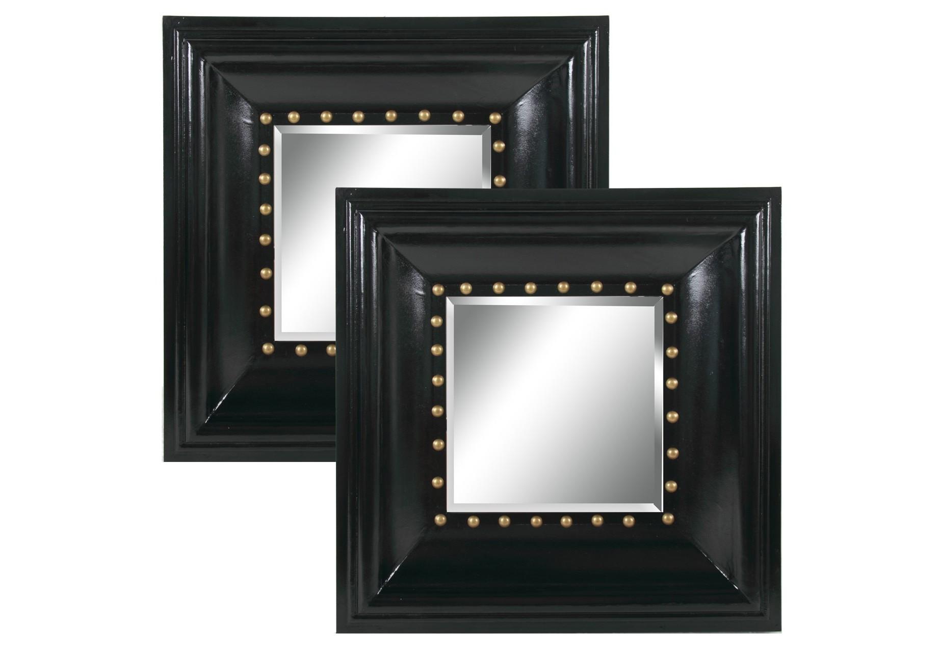 Зеркало (2шт)Настенные зеркала<br><br><br>Material: Дерево<br>Width см: 81<br>Depth см: 10<br>Height см: 81