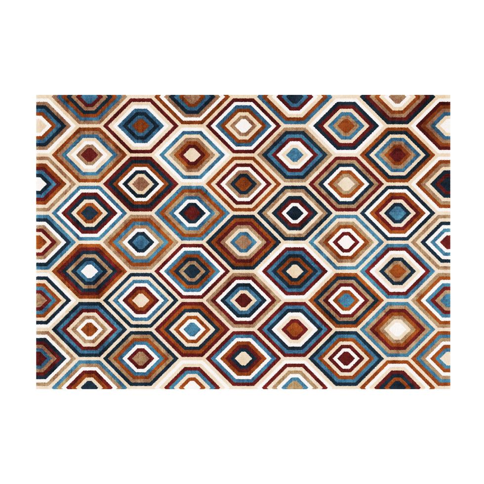 Ковер Ornate RugКвадратные ковры<br>Благодаря ворсу средней толщины геометрический узор этого ковра переливается яркими красками как при естественном, так и при искусственном освещении.&amp;nbsp;<br><br>kit: None<br>gender: None