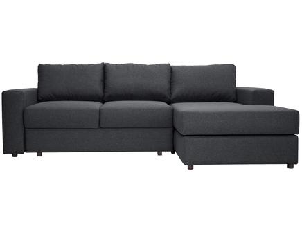 Угловой раскладной диван luma dark (myfurnish) серый 250x79x158 см.