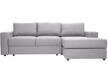 Угловой раскладной диван luma light (myfurnish) серый 250x79x158 см.
