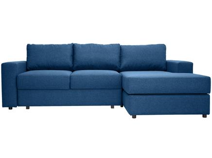 Угловой раскладной диван luma (myfurnish) синий 250x79x158 см.
