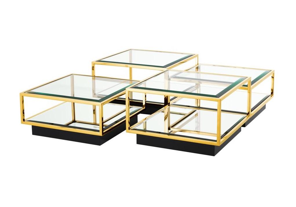 Набор журнальных столиков Coffee Table Tortona (4 шт)Журнальные столики<br>В набор входят 2 столика размером 40х65х65 см и 2 столика 32х65х65 см.<br><br>Material: Металл<br>Width см: 65<br>Depth см: 65<br>Height см: 40