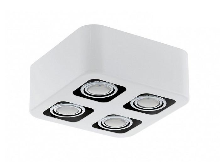 Накладной светильник TorenoПотолочные светильники<br>&amp;lt;div&amp;gt;Вид цоколя: GU10&amp;lt;/div&amp;gt;&amp;lt;div&amp;gt;Мощность: 5W&amp;lt;/div&amp;gt;&amp;lt;div&amp;gt;Количество ламп: 4 (нет в комплекте)&amp;lt;/div&amp;gt;<br><br>Material: Металл<br>Ширина см: 24<br>Высота см: 9<br>Глубина см: 24