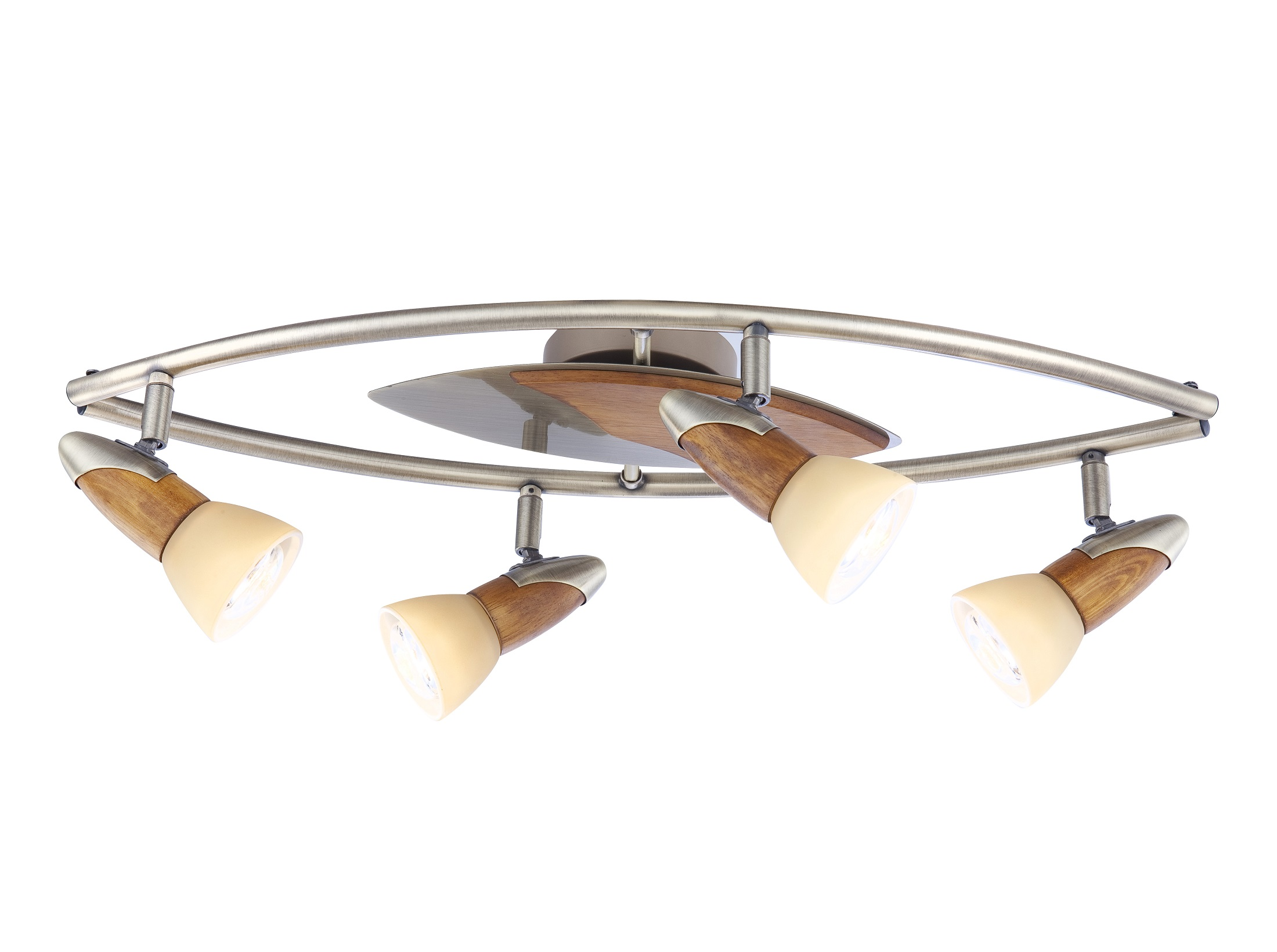 СпотСпоты<br><br>Вид цоколя: E14<br>Мощность:  40W <br>Количество ламп: 4 (нет в комплекте)<br>