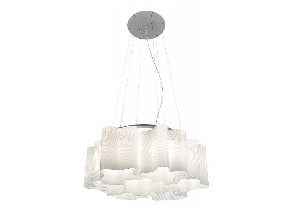 Подвесная люстра Nubi OndosoЛюстры подвесные<br>Лампы в комплекте - отсутствуют, Максимальная мощность лампы, Вт - 40, Общее кол-во ламп - 6, Тип цоколя лампы - E27, Коллекция - Nubi Ondoso<br><br>Material: Металл<br>Height см: 40<br>Diameter см: 55