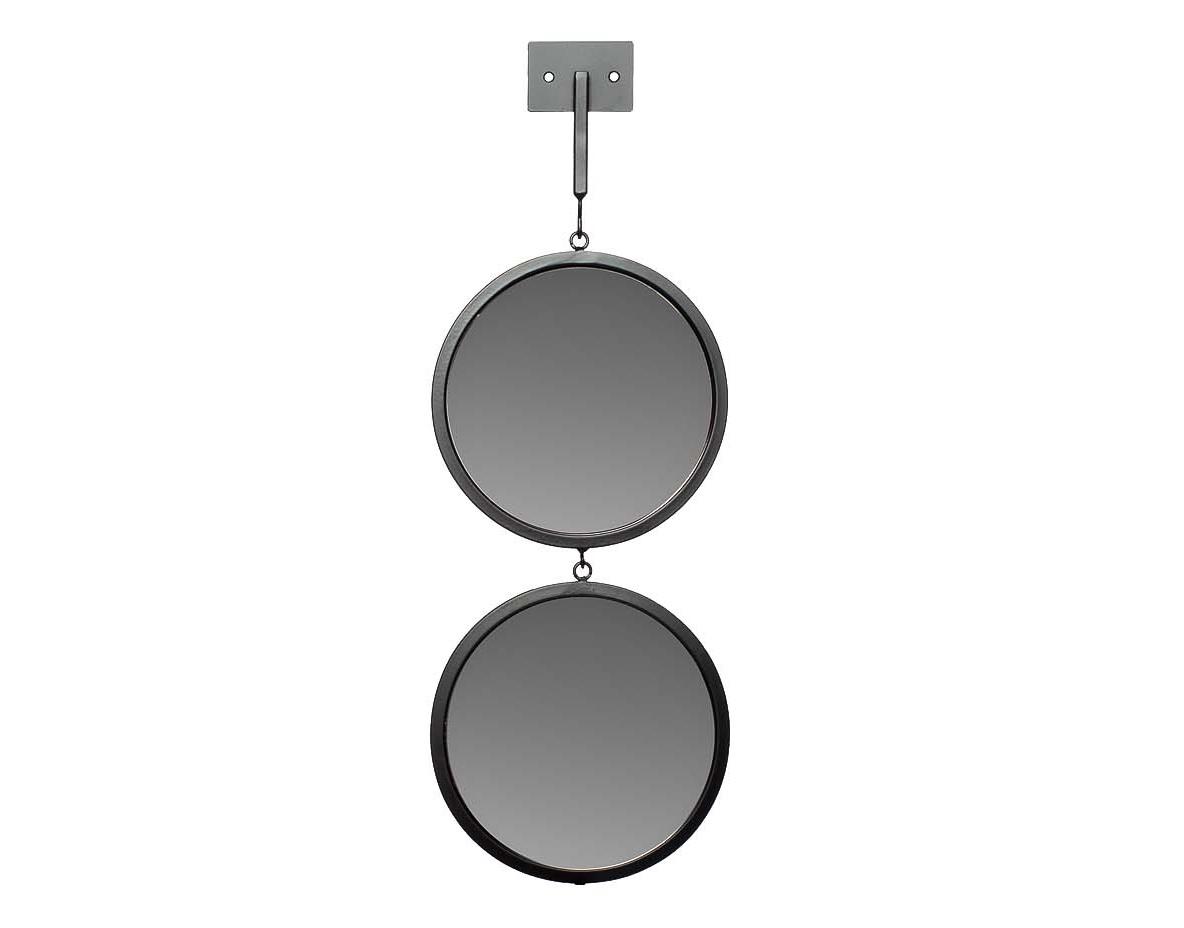 ЗеркалоНастенные зеркала<br>диаметр каждого зеркала - 20 см, высота планки - 15 см<br><br>Material: Металл<br>Ширина см: 20<br>Высота см: 55