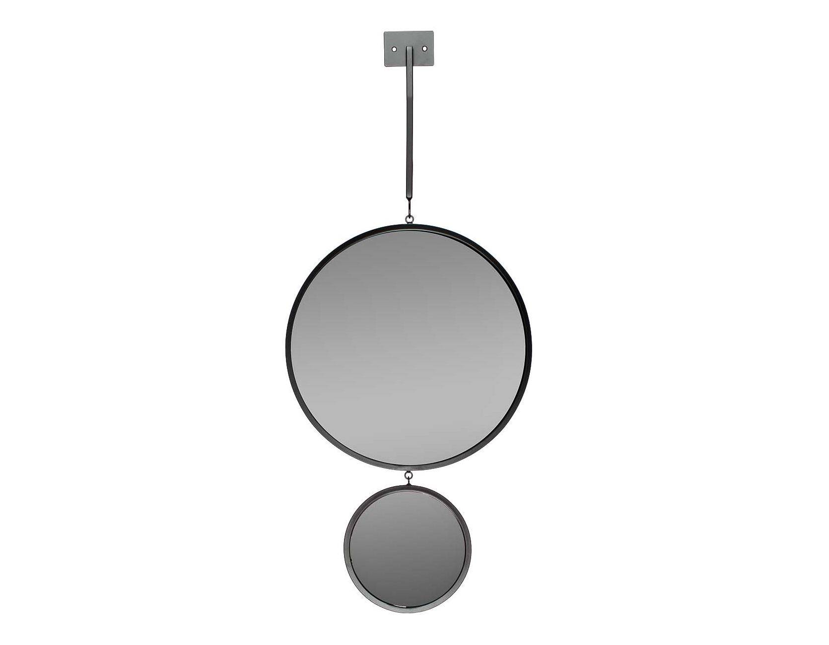 ЗеркалоНастенные зеркала<br>диаметр большого зеркала - 40 см, маленького зеркала - 20 см, высота планки - 60 см<br><br>Material: Металл<br>Ширина см: 40<br>Высота см: 120