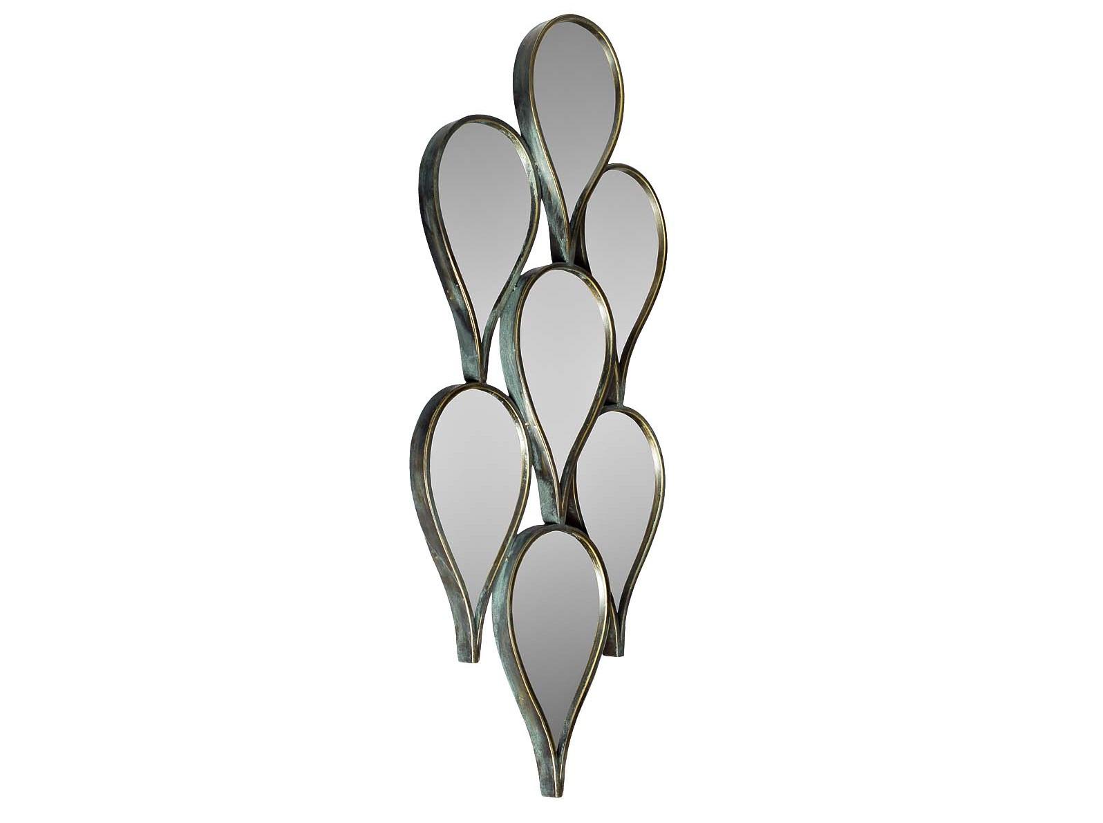 Зеркало КаплиНастенные зеркала<br><br><br>Material: Металл<br>Ширина см: 43<br>Высота см: 100<br>Глубина см: 5