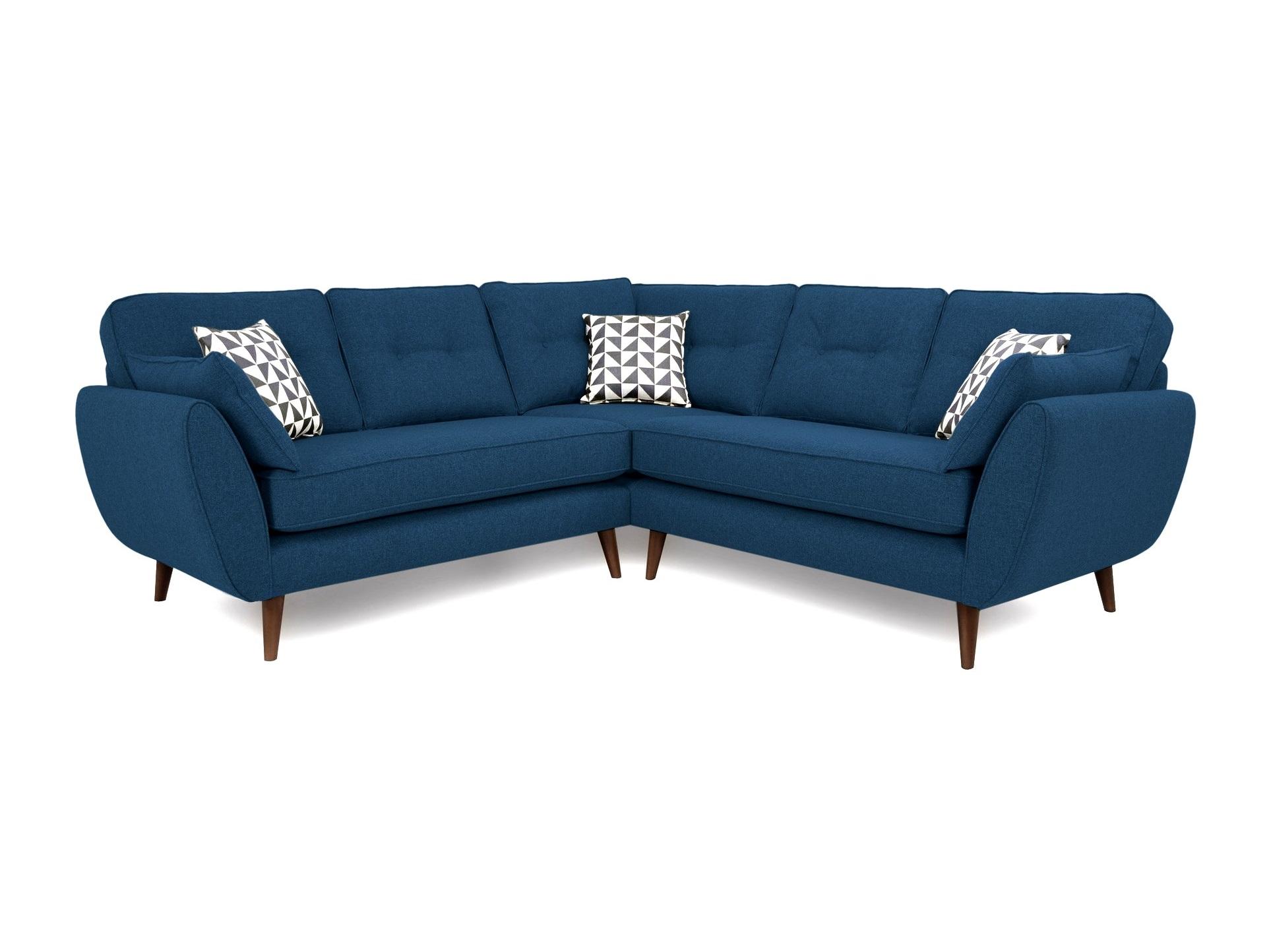 Myfurnish угловой диван vogue full синий  71083/7
