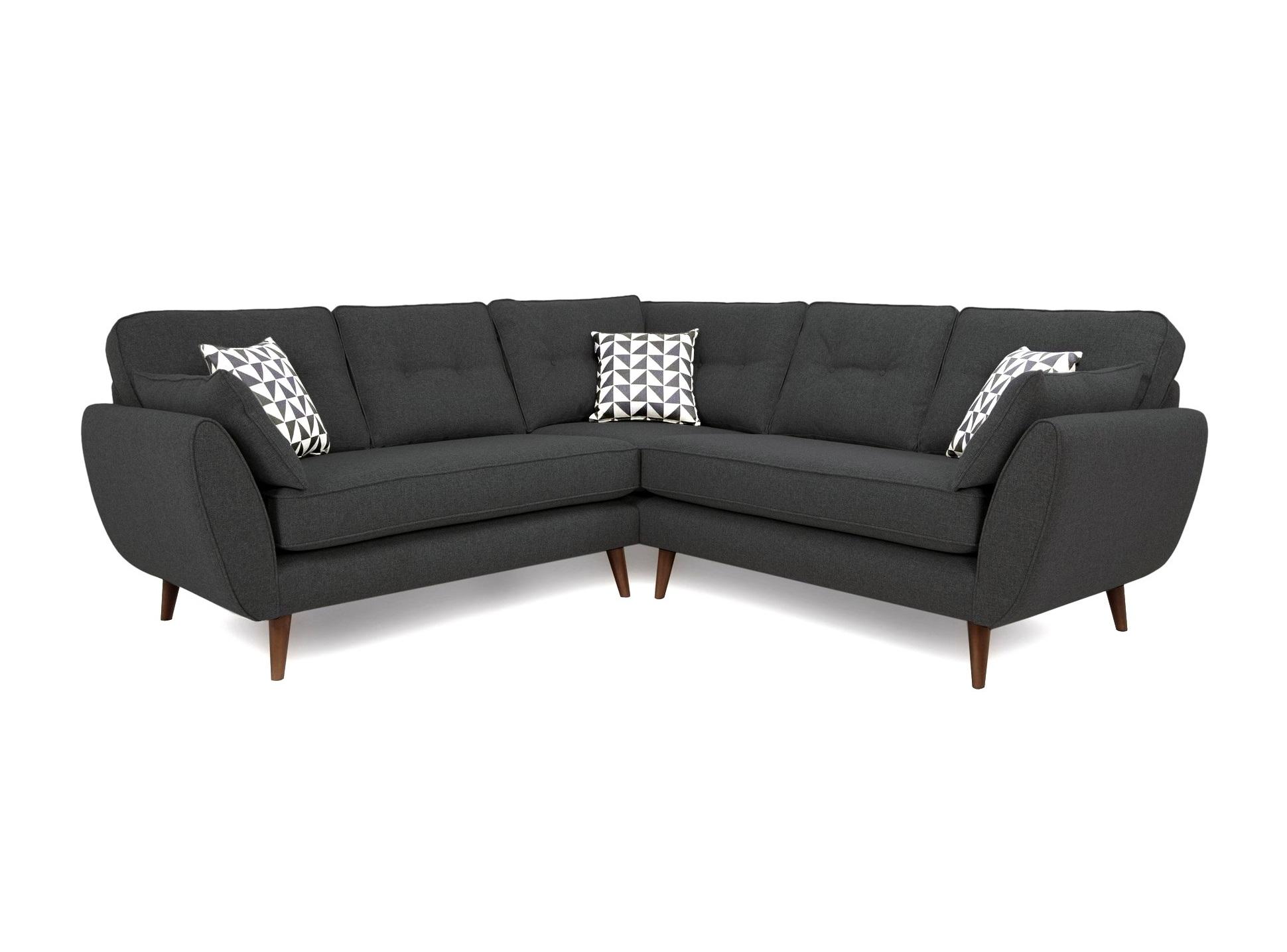 Myfurnish угловой диван vogue full серый  71086/1