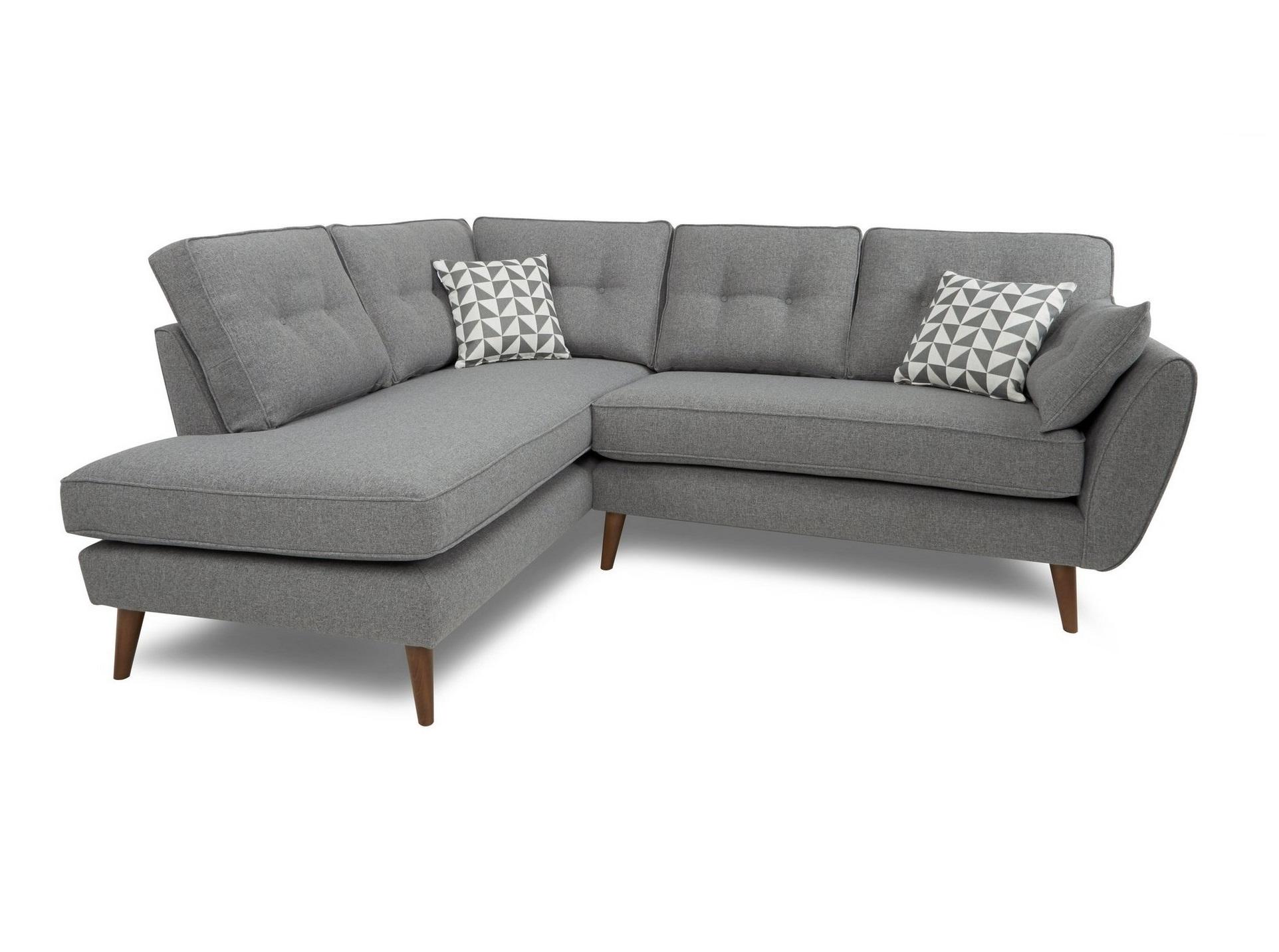 Myfurnish угловой диван vogue серый  71088/1