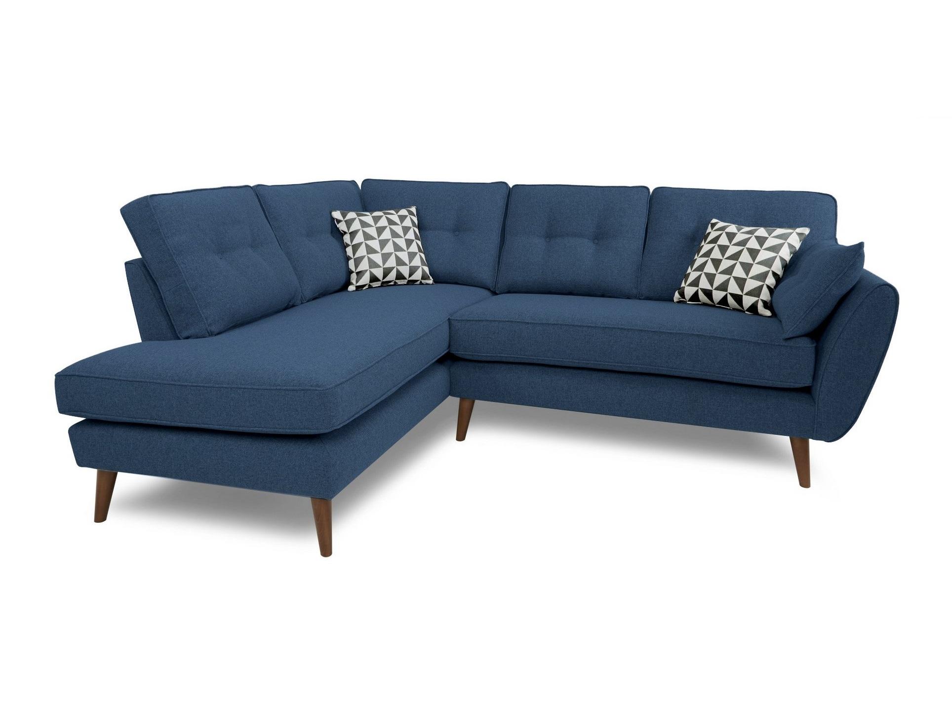 Myfurnish угловой диван vogue синий  71089/8