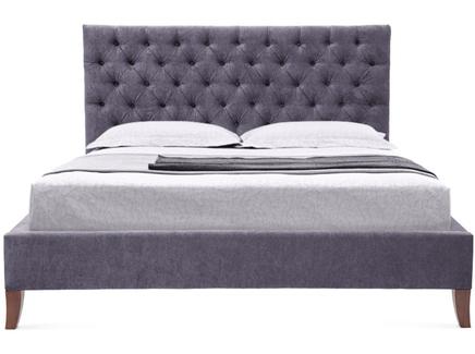 Мягкая кровать city (myfurnish) фиолетовый 170x120x212 см.