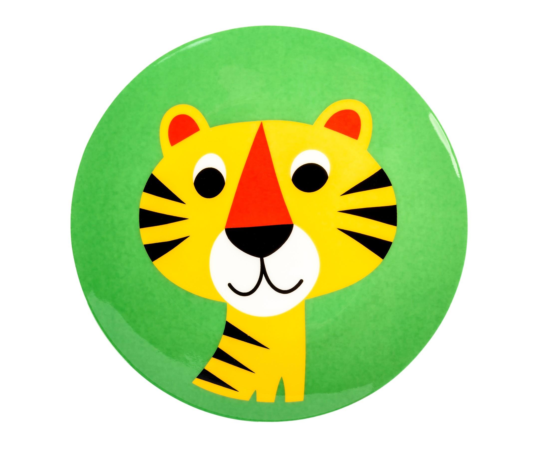 Тарелка ТигрёнокДекоративные тарелки<br><br><br>Material: Керамика<br>Ширина см: 20<br>Высота см: 2