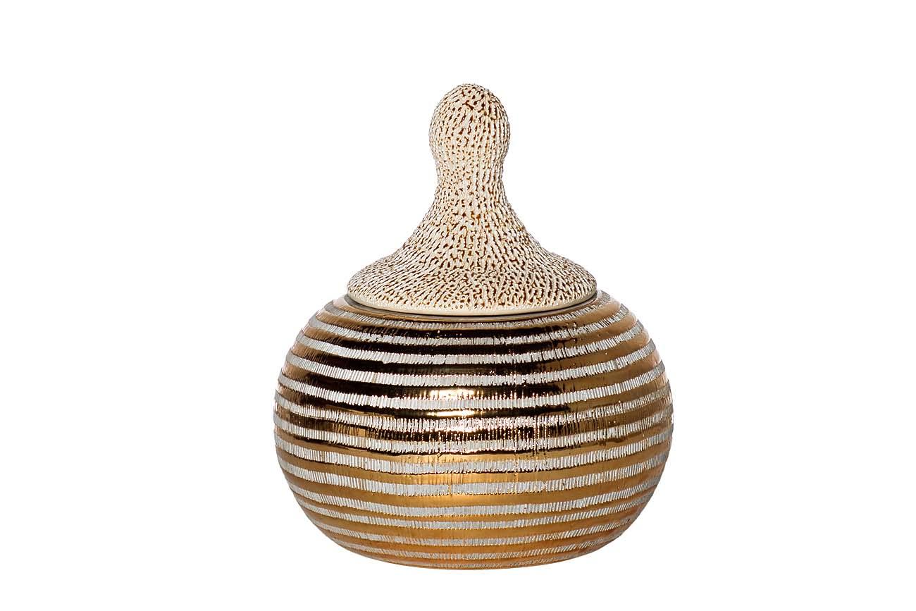 Шкатулка для украшенийШкатулки<br><br><br>Material: Керамика<br>Width см: None<br>Depth см: None<br>Height см: 20,5<br>Diameter см: 19