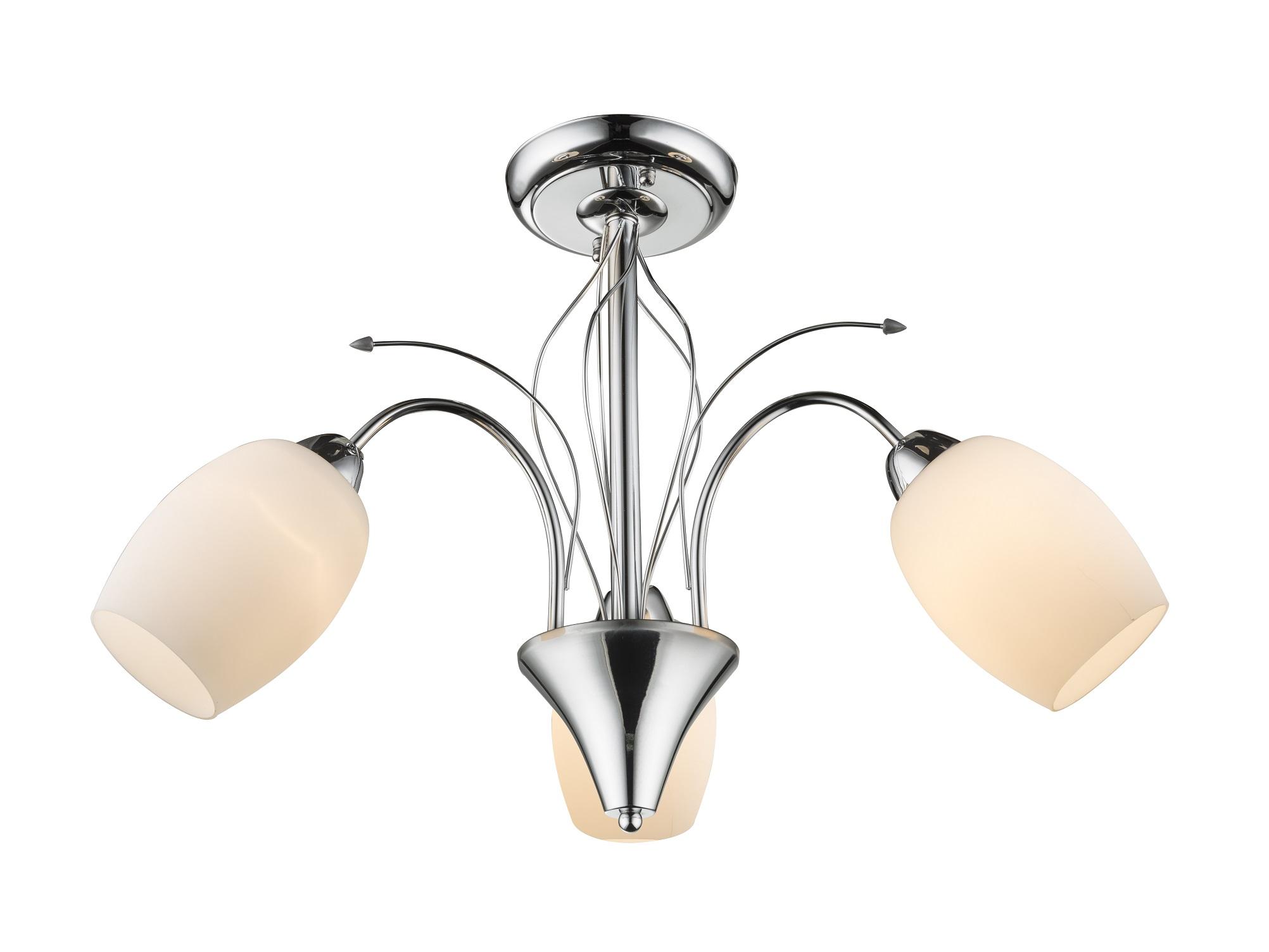 Люстра потолочнаяЛюстры потолочные<br><br>Вид цоколя: E27<br>Мощность:  60W <br>Количество ламп: 3 (нет в комплекте)<br>