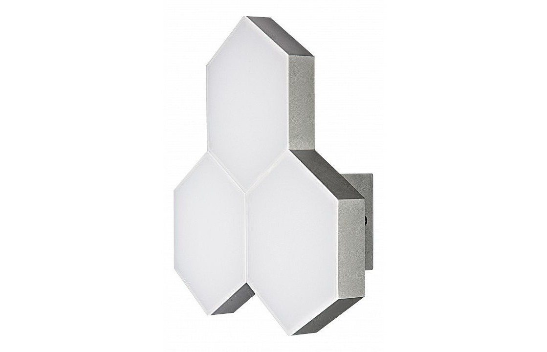 Накладной светильник favo (lightstar) серый 25x26x8 см. фото