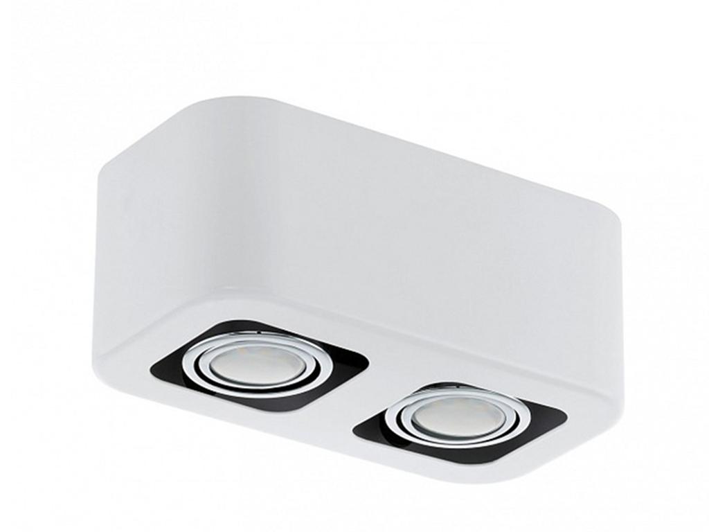 Накладной светильник TorenoПотолочные светильники<br>&amp;lt;div&amp;gt;Вид цоколя: GU10&amp;lt;/div&amp;gt;&amp;lt;div&amp;gt;Мощность: 5W&amp;lt;/div&amp;gt;&amp;lt;div&amp;gt;Количество ламп: 2 (нет в комплекте)&amp;lt;/div&amp;gt;<br><br>Material: Металл<br>Ширина см: 24<br>Высота см: 9<br>Глубина см: 13