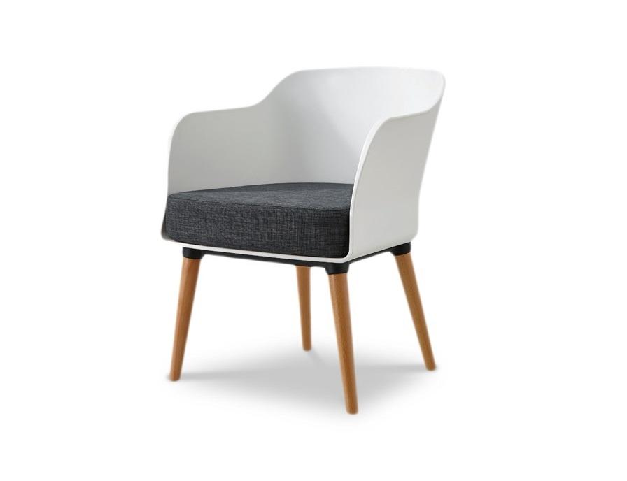СтулСтулья с подлокотниками<br>Эргономичная спинка и сиденье из высококачественного пластика ABS, ножки деревянные.&amp;amp;nbsp;<br><br>Material: Пластик<br>Width см: 57<br>Depth см: 57<br>Height см: 75