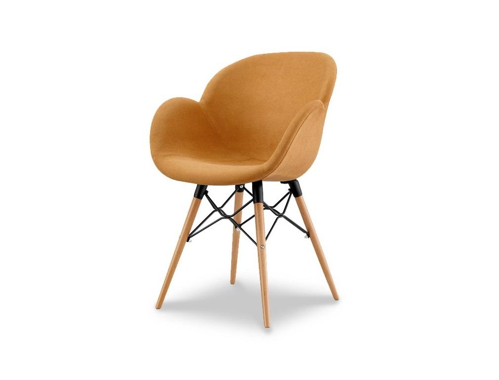 СтулПолукресла<br>Эргономичная спинка и сиденье, отделка ткань, ножки деревянные.<br><br>Material: Текстиль<br>Width см: 59<br>Depth см: 60<br>Height см: 86