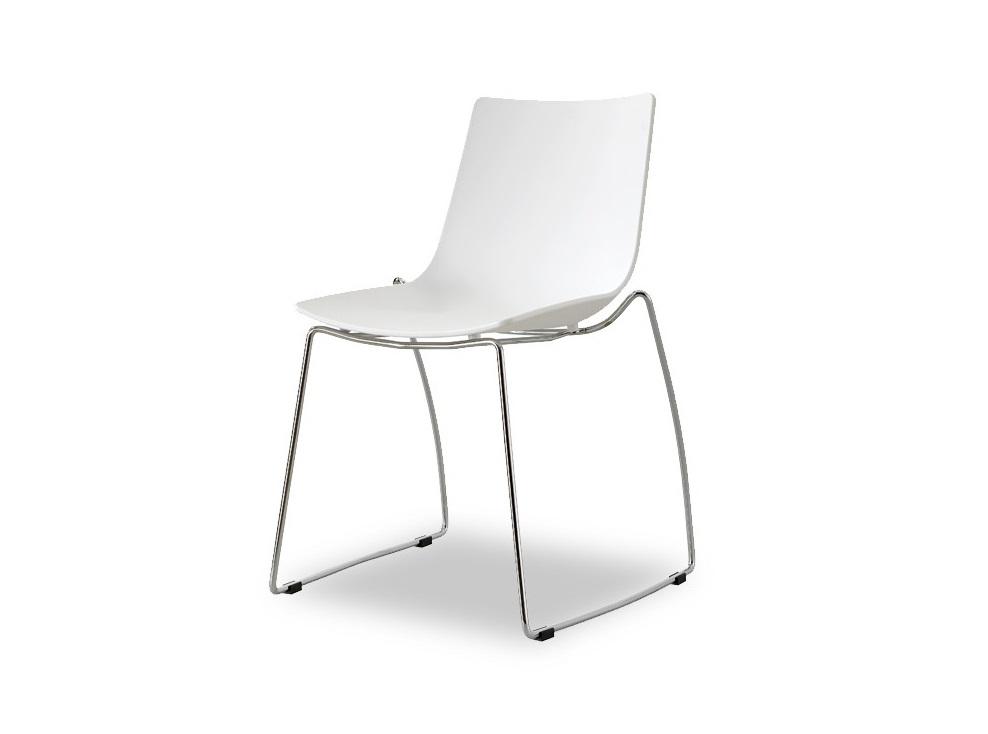 СтулОбеденные стулья<br>Эргономичная спинка и сиденье из высококачественного пластика ABS, ножки из хромированного металла.<br><br>Material: Пластик<br>Ширина см: 51<br>Высота см: 82<br>Глубина см: 56