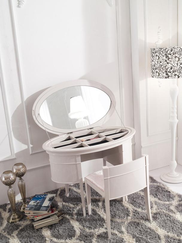 туалетный столик Rimini Fratelli Barri белый дерево 106x77x65 см
