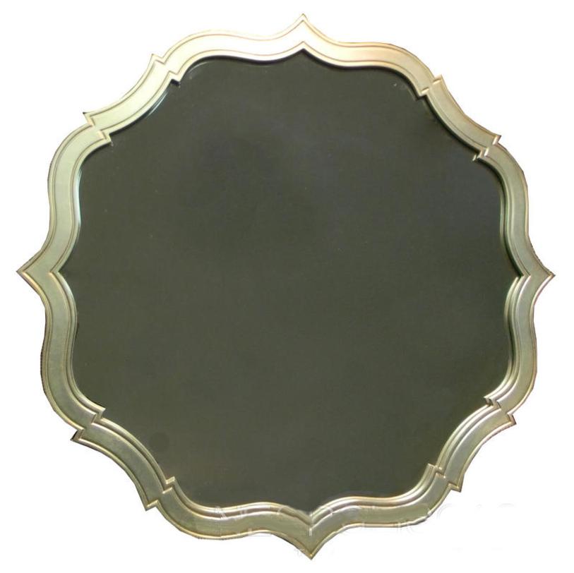 Зеркало  RiminiНастенные зеркала<br>Зеркало &amp;quot;Rimini&amp;quot; привносит в оформление спален, гостиных или кабинетов королевскую эстетику подлинного гламура. Оно добавляет пространству больше драматизма благодаря элегантной раме. Ее плавные изгибы создают неправильную окружность, которая покоряет благородством и утонченностью своего силуэта.&amp;lt;div&amp;gt;&amp;lt;br&amp;gt;&amp;lt;/div&amp;gt;&amp;lt;div&amp;gt;Варианты отделки рамы: черный или белый лак, сусальное серебро.&amp;lt;/div&amp;gt;<br><br>Material: Стекло<br>Diameter см: 86