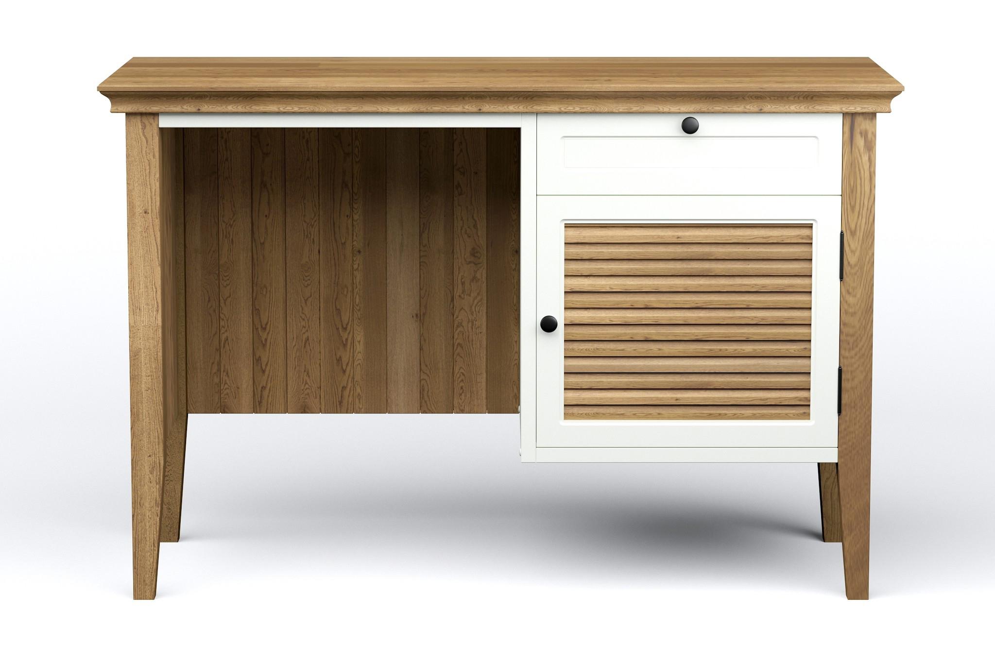 Письменный стол Ranch MidiПисьменные столы<br>Письменный стол &amp;quot;Ranch Midi&amp;quot; является ярким представителем коллекции &amp;quot;Ranch&amp;quot; с ее фирменными фасадами и текстурой натурального дуба. Мы специально немного уменьшили размеры стола, чтобы он мог найти себе достойное место в том числе в габаритах небольших квартир. Изменение размера и цвета возможно по пожеланиям заказчика. Сборка не требуется.<br><br>Material: Дуб<br>Ширина см: 105<br>Высота см: 70<br>Глубина см: 45