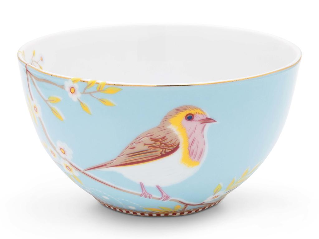 Набор Floral (2шт)Миски и чаши<br>Набор из 2-х пиал Floral. Не использовать в микроволновой печи. Не рекомендуется мыть в посудомоечной машине. Коллекция посуды Floral появилась в 2008 г. и состоит из нескольких дизайнов, которые прекрасно сочетаются между собой и отлично дополняют друг друга. Особенность коллекции - в декорировании цветами, птицами и позолотой на всех предметах. Коллекция состоит из трёх цветовых групп - розовой, хаки и голубой, которые можно бесконечно комбинировать между собой. Коллекция также включает в себя кухонный текстиль и стекло.<br><br>Material: Фарфор<br>Width см: 15<br>Depth см: 15<br>Height см: 8.5