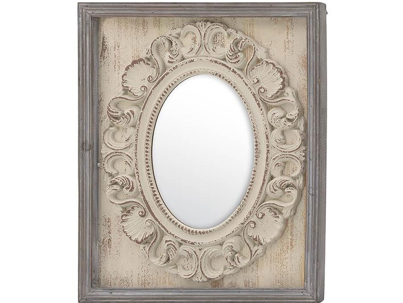 Зеркало настенное BrenvioНастенные зеркала<br><br><br>Material: Дерево<br>Width см: 49<br>Depth см: 3<br>Height см: 60