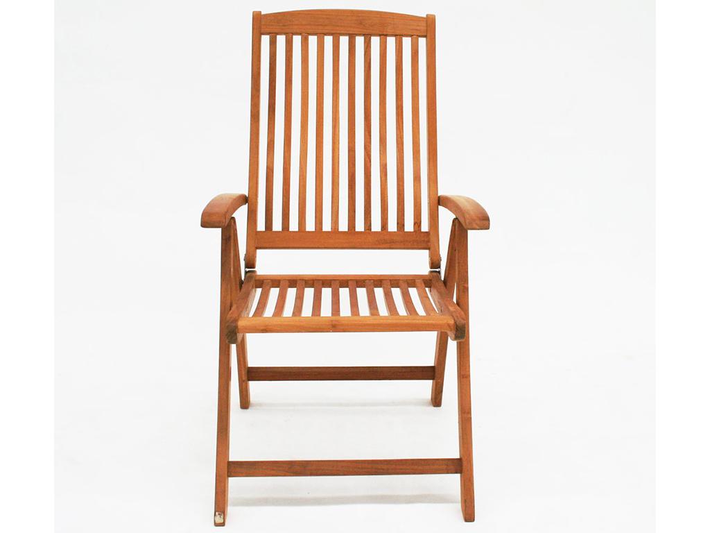 Стул складной LouisСтулья для сада<br>Складной стул с подлокотниками и удобной спинкой. Для комфортного отдыха на открытом воздухе. Драгоценная древесина тика и немецкое качество.<br><br>Material: Тик<br>Ширина см: 64<br>Высота см: 112<br>Глубина см: 67